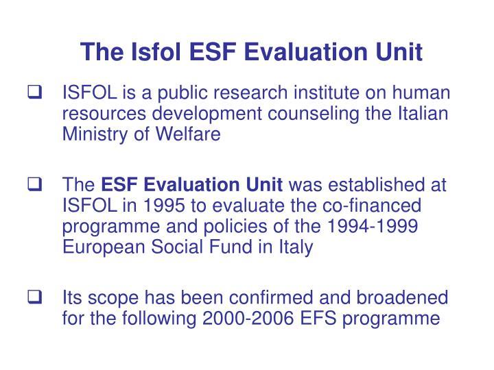 The Isfol ESF