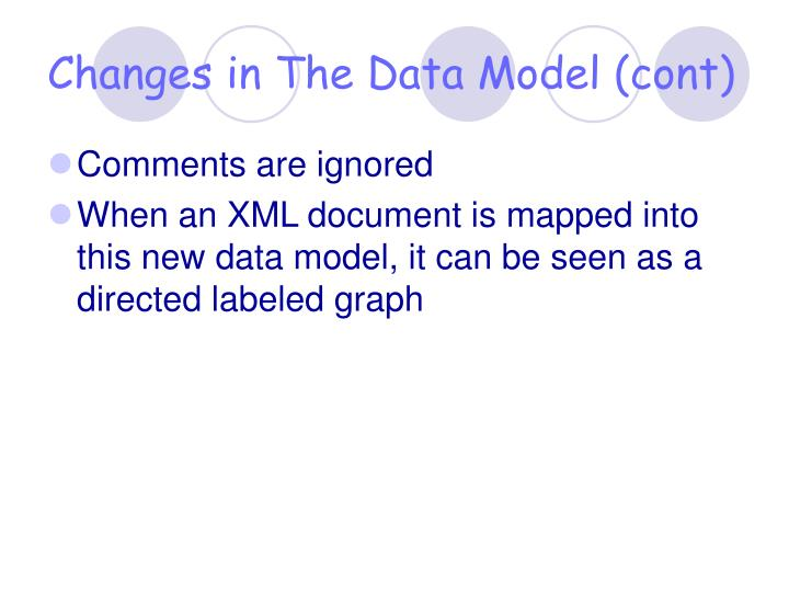 Changes in The Data Model (cont)