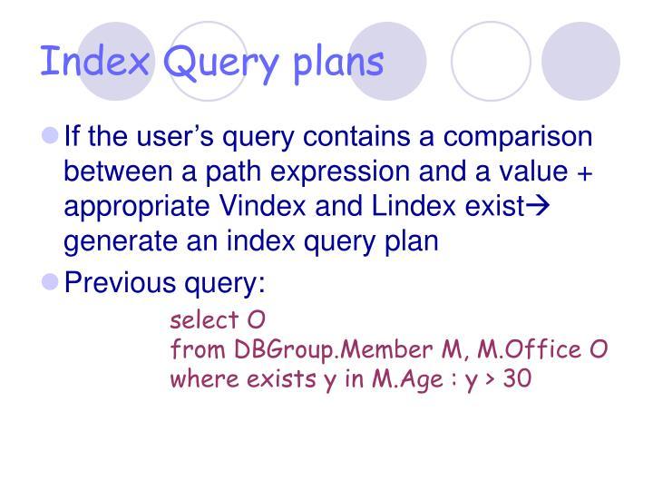 Index Query plans