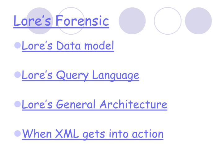 Lore's Forensic