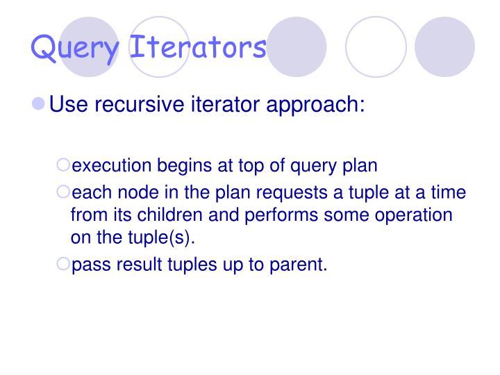 Query Iterators