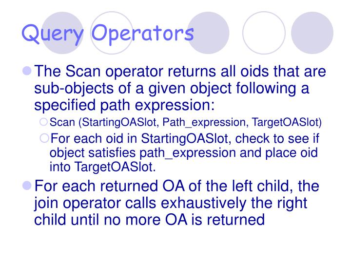 Query Operators