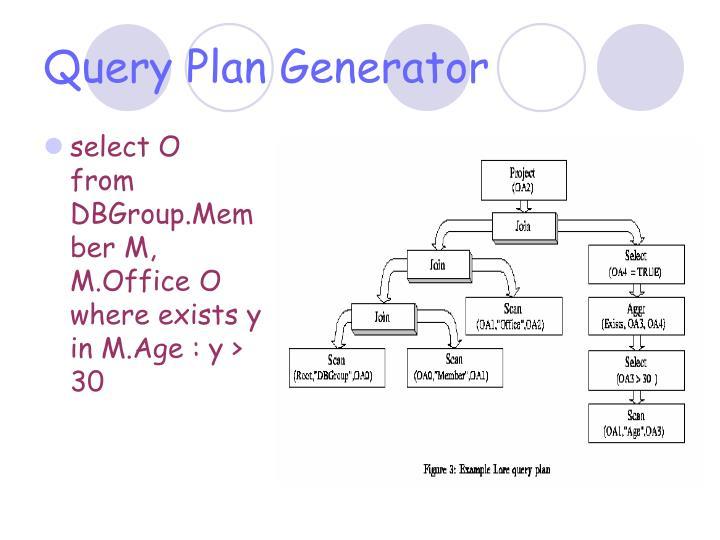 Query Plan Generator