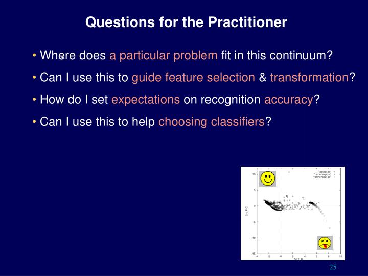 Questions for the Practitioner