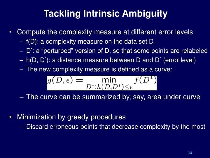 Tackling Intrinsic Ambiguity