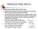 additional false alarms