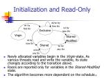 initialization and read only