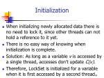 initialization