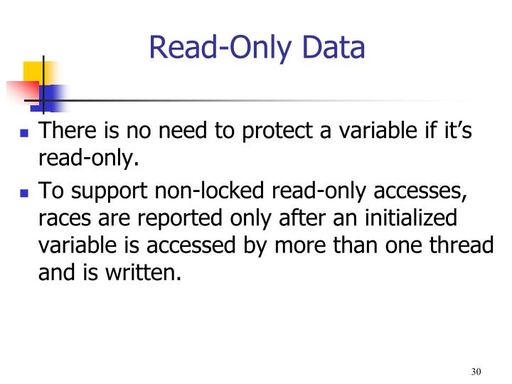 Read-Only Data