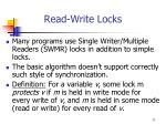 read write locks