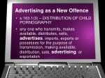 advertising as a new offence