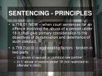 sentencing principles