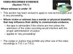 video recorded evidence section 715 1