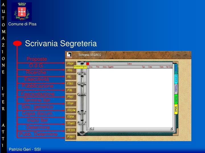 Scrivania Segreteria
