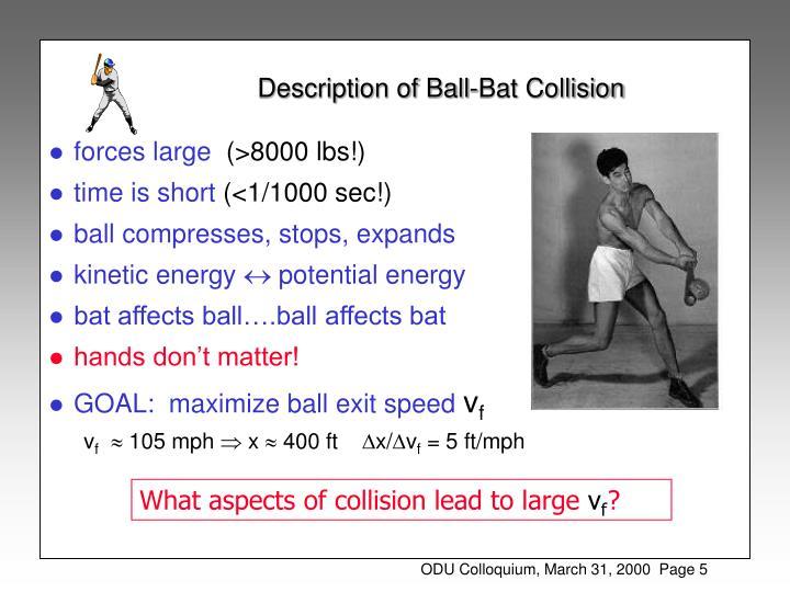 Description of Ball-Bat Collision