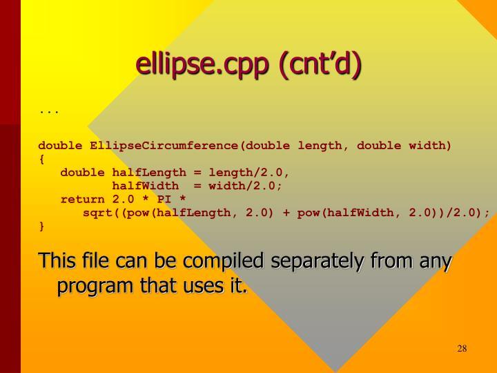 ellipse.cpp (cnt'd)