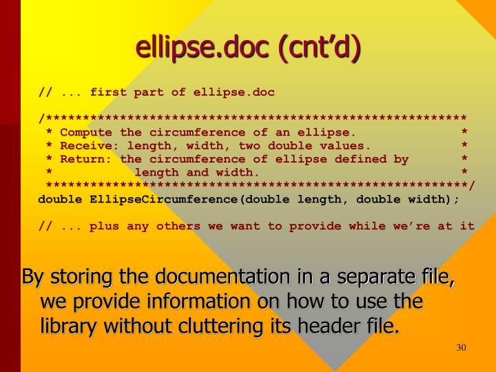 ellipse.doc (cnt'd)