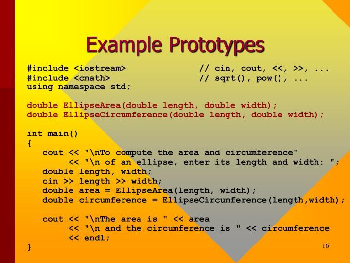 Example Prototypes