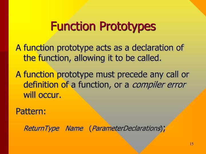 Function Prototypes
