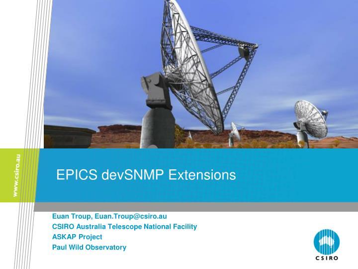 EPICS devSNMP Extensions