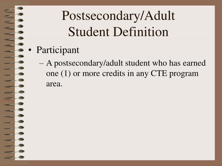 Postsecondary/Adult