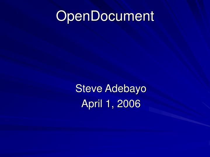 OpenDocument