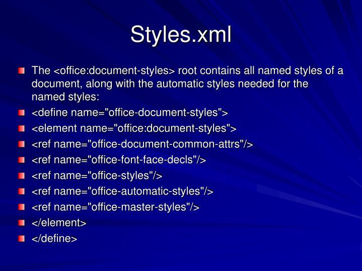 Styles.xml
