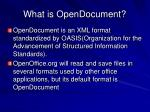 what is opendocument