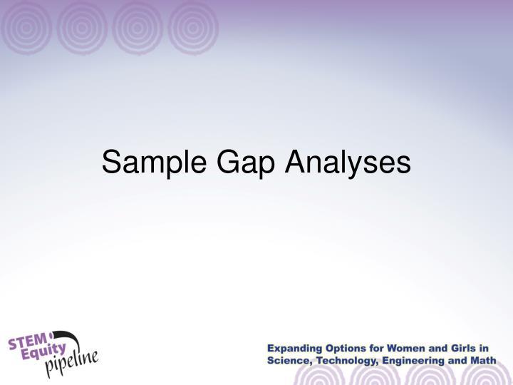Sample Gap Analyses