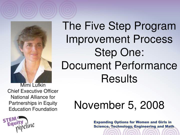 The Five Step Program Improvement Process