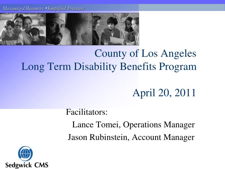 County of los angeles long term disability benefits program april 20 2011