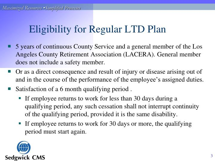 Eligibility for regular ltd plan