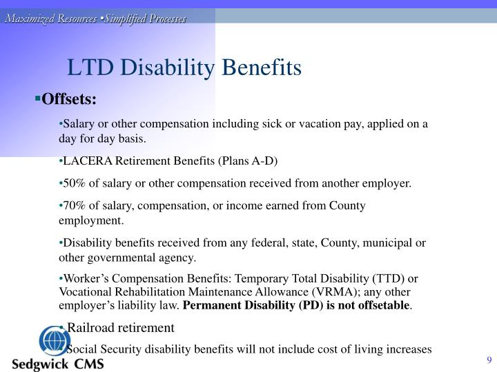 LTD Disability Benefits