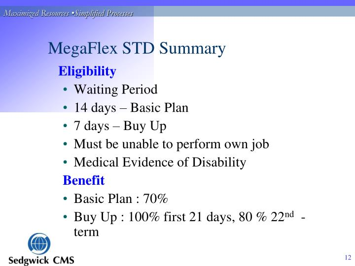 MegaFlex STD Summary
