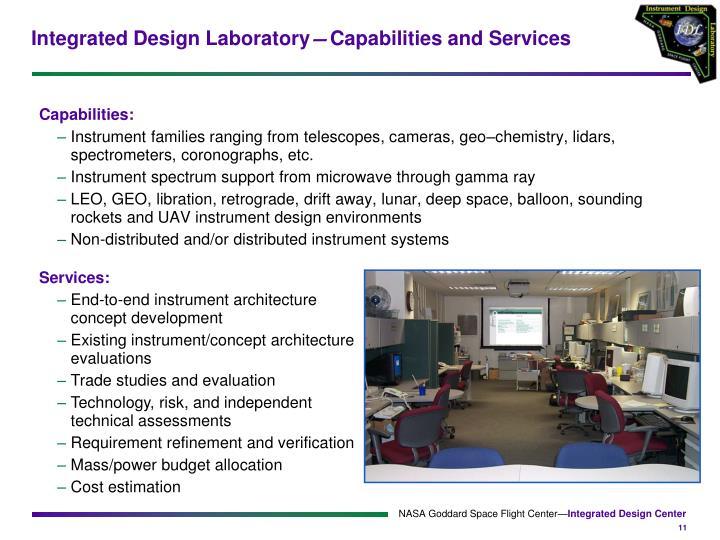 Integrated Design Laboratory