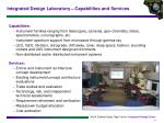 integrated design laboratory capabilities and services