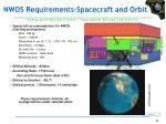 nwos requirements spacecraft and orbit