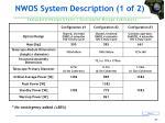 nwos system description 1 of 2