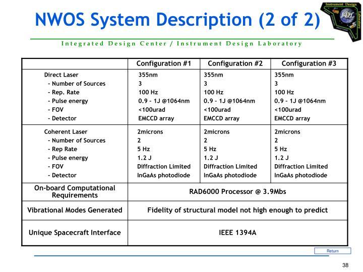 NWOS System Description (2 of 2)