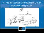 a true black swan coming from out of nowhere perspective