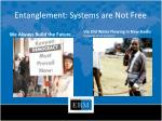 entanglement systems are not free