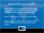 general discussion goals