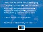 how not to think about emerging complex futures like the turkey did