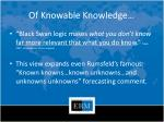 of knowable knowledge