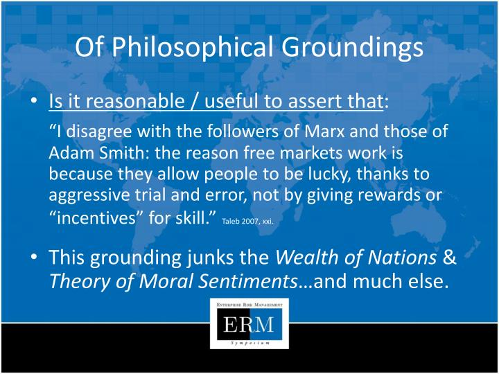 Of Philosophical Groundings