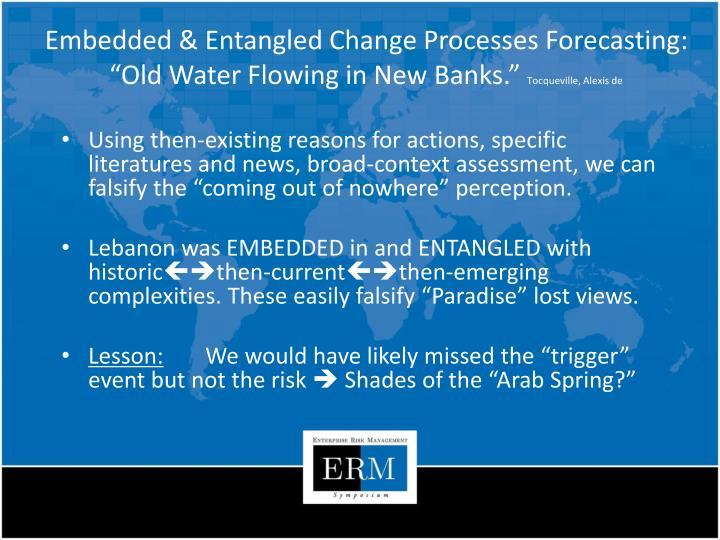 Embedded & Entangled Change Processes Forecasting: