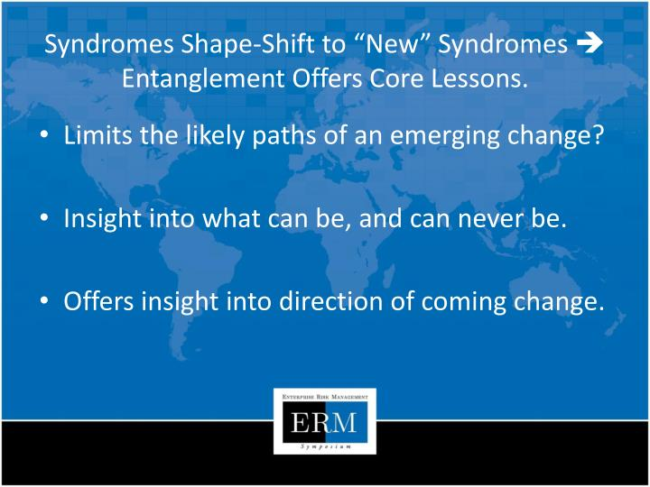 Syndromes Shape-Shift to