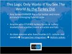 this logic only works if you see the world as the turkey did