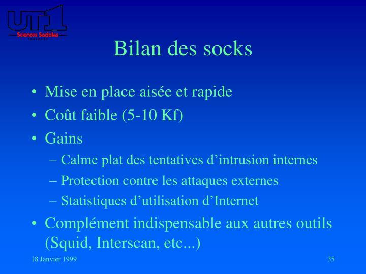 Bilan des socks