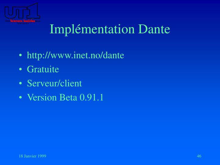 Implémentation Dante